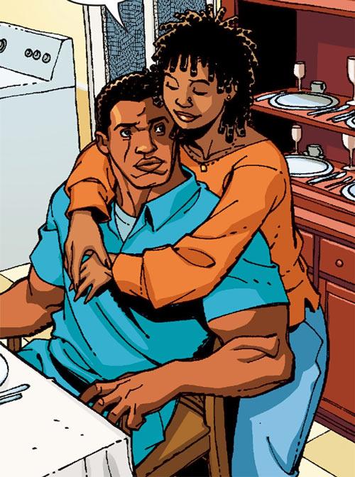 Black Lightning (DC Comics) with his wife Lynn