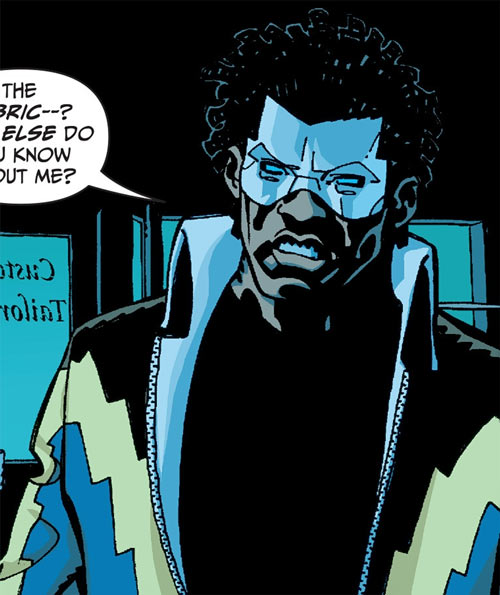 Black Lightning Year One (DC Comics) in the dark