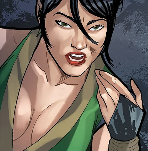 Black Lotus (Marvel Comics) face closeup