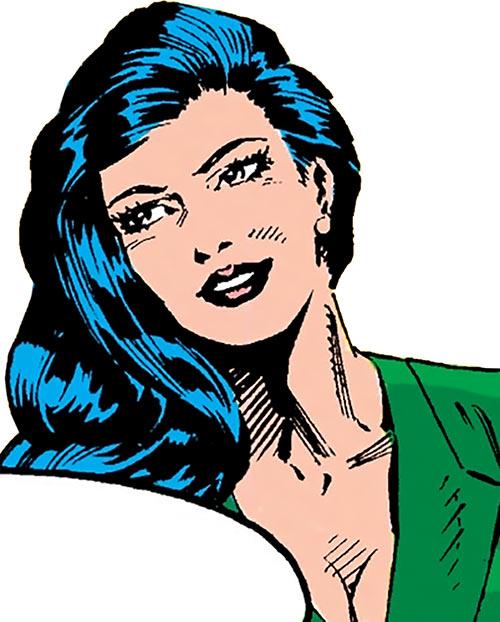 Black Mamba (Marvel Comics) portrait in her civvies