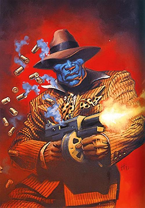 Black Mask (DC Comics) firing a gun