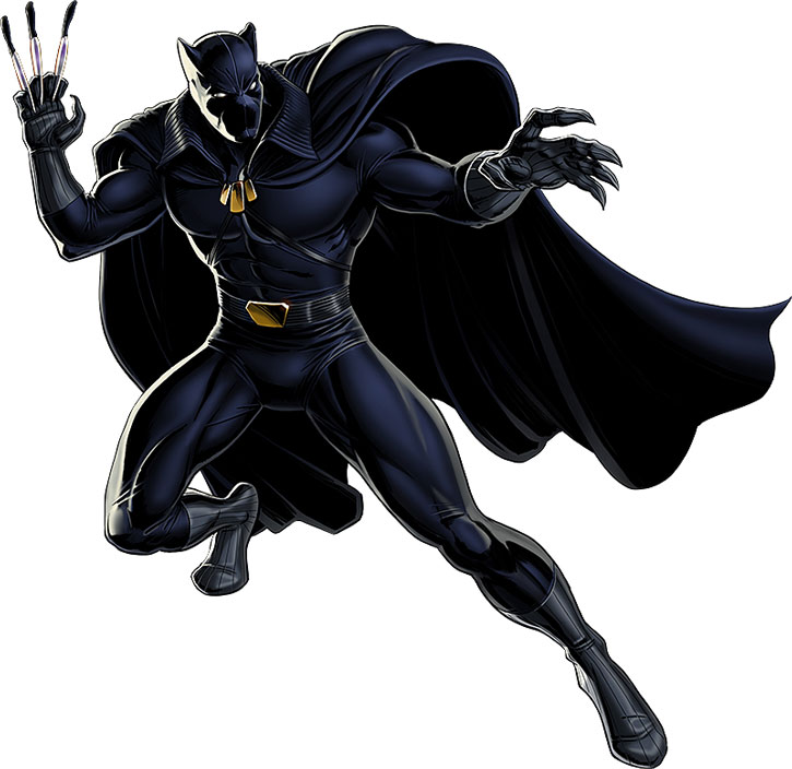 Black Panther (T'Challa) with throwing daggers
