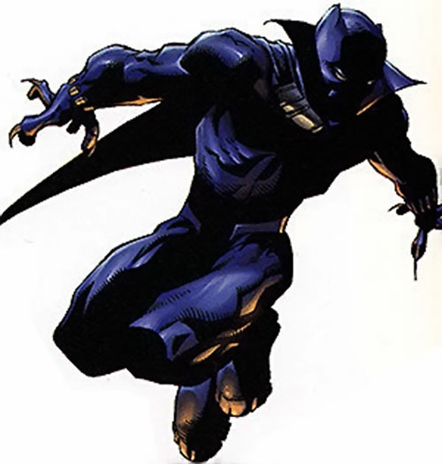 Black Panther (Marvel Comics) leaping into battle