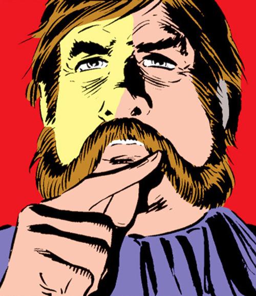 Black Rook of the Hellfire Club (von Roehm) (X-Men enemy) (Marvel Comics) face closeup