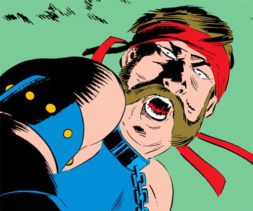 Black Rook of the Hellfire Club (von Roehm) (X-Men enemy) (Marvel Comics) feral face closeup