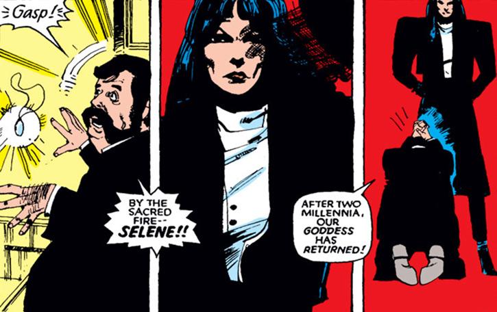 Black Rook of the Hellfire Club (von Roehm) (X-Men enemy) (Marvel Comics) and Selene