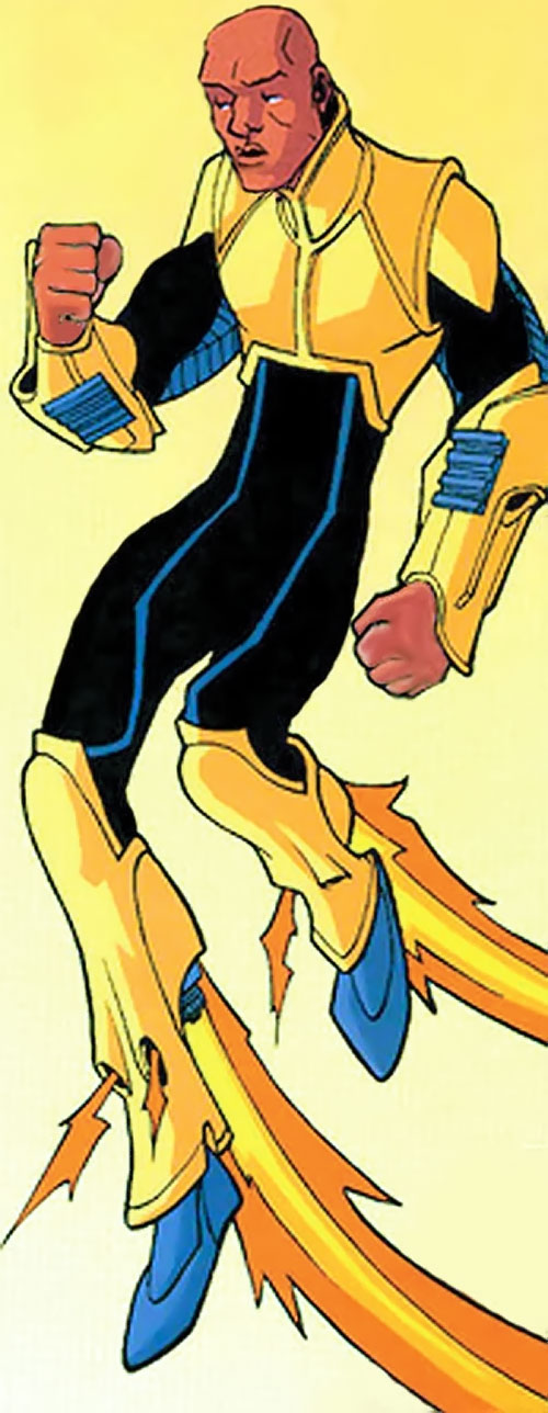 Black Samson of the Guardians of the Globe (Invincible Image comics) with the yellow and black armor