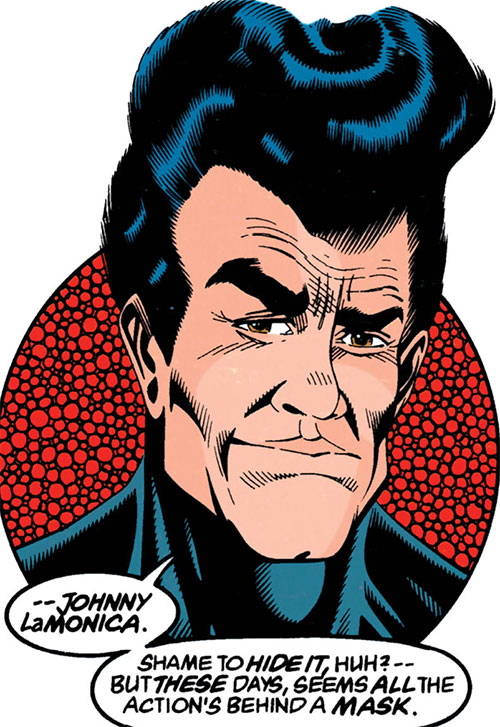 Black Spider (Johnny Lamonica) (DC Comics) unmasked
