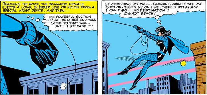 The Black Widow swinging above Manhattan