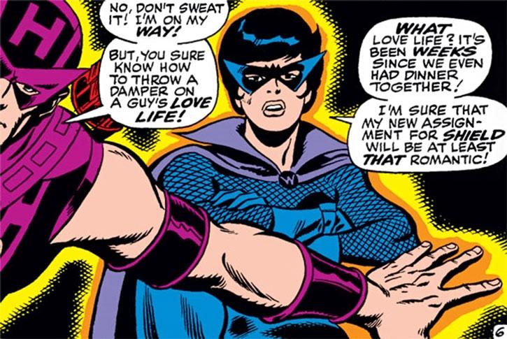 The Black Widow and Hawkeye