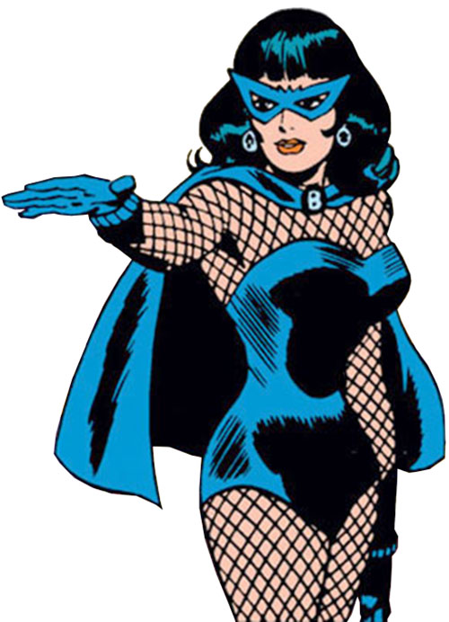 Black Widow (Romanoff) during the 1960s (Marvel Comics) with hand extended
