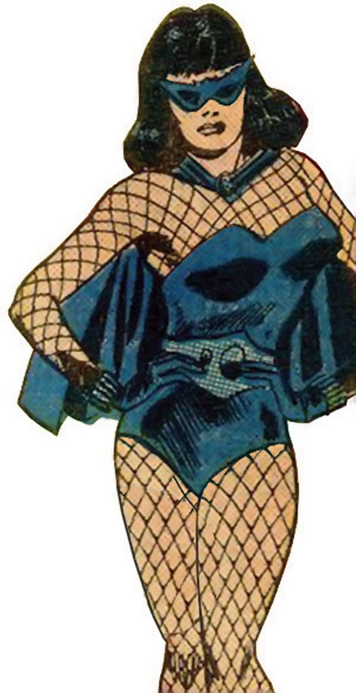 Black Widow (Romanoff) during the 1960s (Marvel Comics) with hands on her hips, unhappy