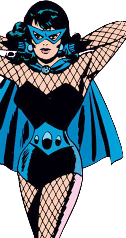 Black Widow (Romanoff) during the 1960s (Marvel Comics) with arms raised