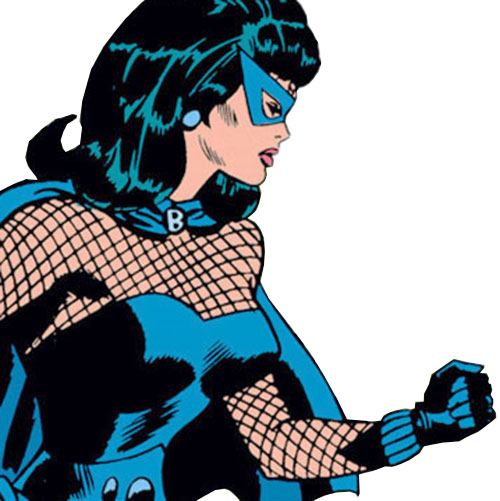 Black Widow (Romanoff) during the 1960s (Marvel Comics) with fist raised