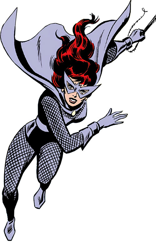 Black Widow (Romanoff) during the 1960s (Marvel Comics) in the gray costume