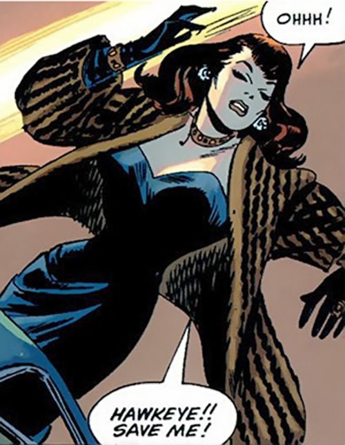 Black Widow (Romanoff) during the 1960s (Marvel Comics) as a femme fatale