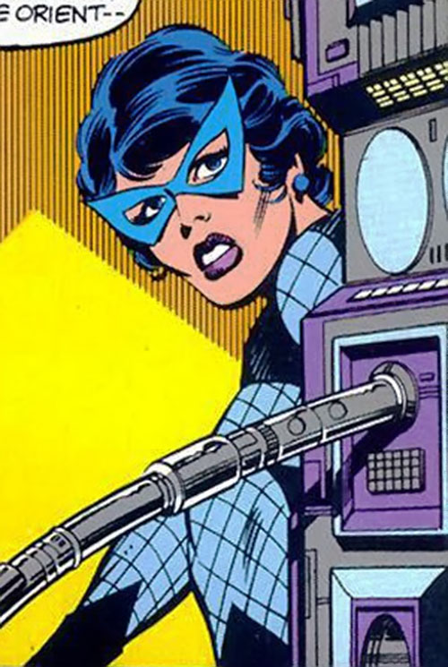 Black Widow (Romanoff) during the 1960s (Marvel Comics) sneaking around