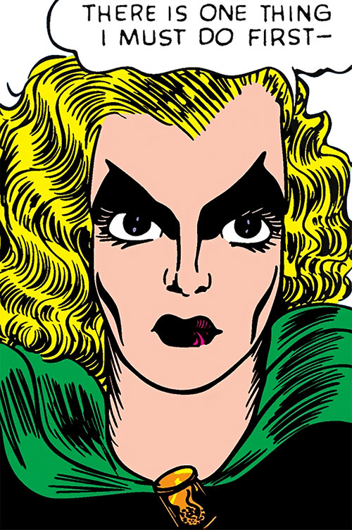 Black Widow (Marvel Comics) (Claire Voyant) closeup