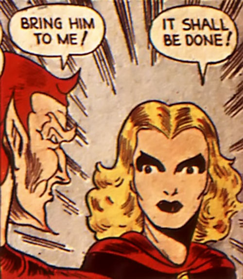 Black Widow (Marvel Comics) (Claire Voyant) and Satan