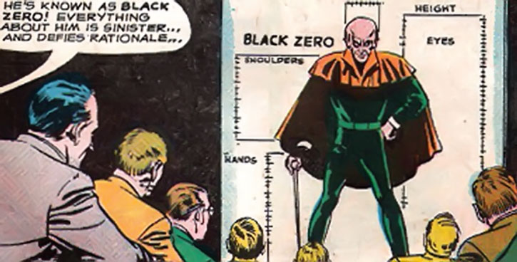 Black Zero - everything about him is sinister !