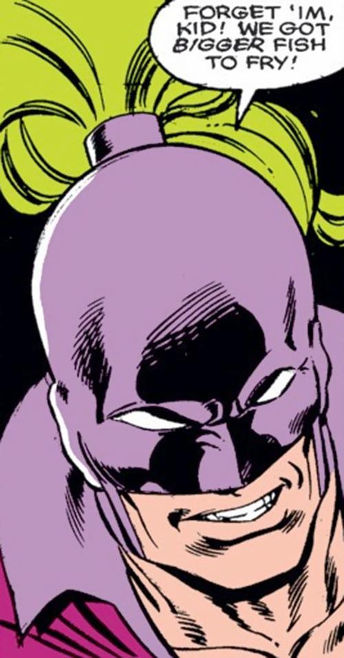 Blacklash face and mask closeup