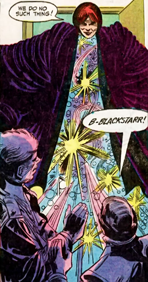 Blackstarr (Supergirl enemy) (DC Comics) with her body replaced by a star field