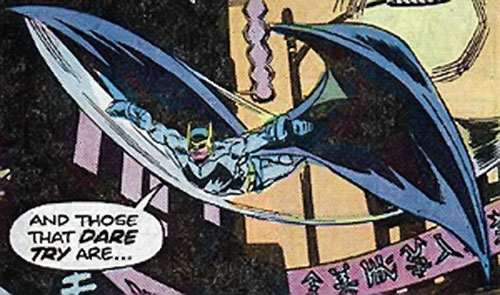 Blackwing (Charley Bullock) gliding in Chinatown