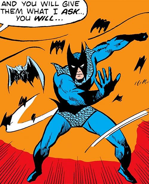 Blackwing (Marvel Comics) (Manfredi) commanding to his bats