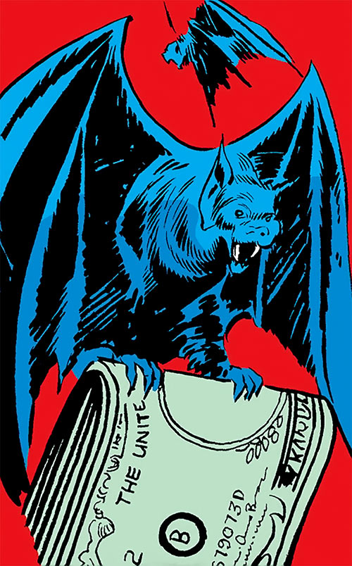 Bat stealing dollar bills