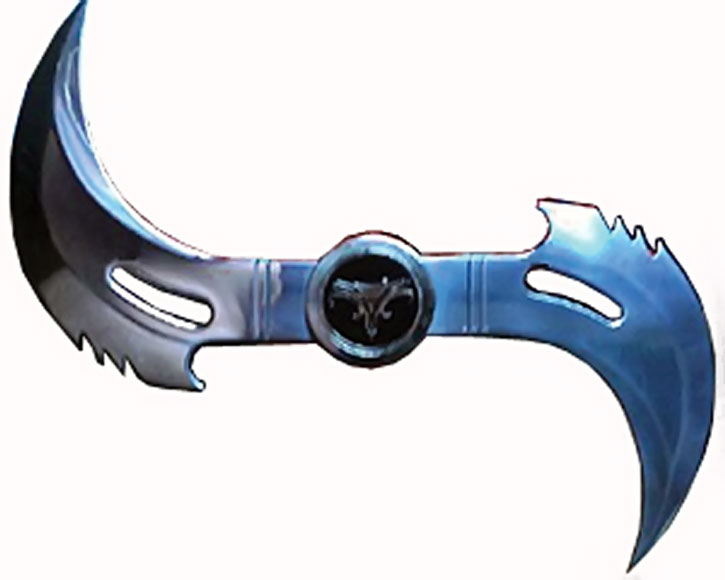 Blade's glaive throwing weapon