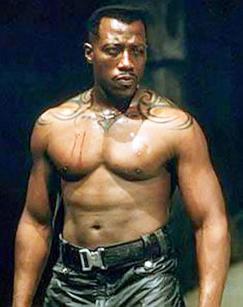 Blade (Wesley Snipes) bare-chested