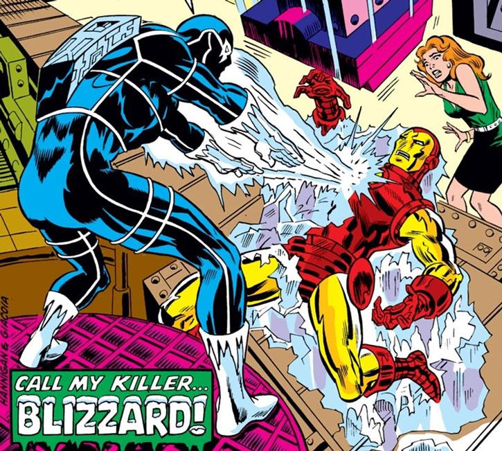 Blizzard vs. Iron Man (cover detail)