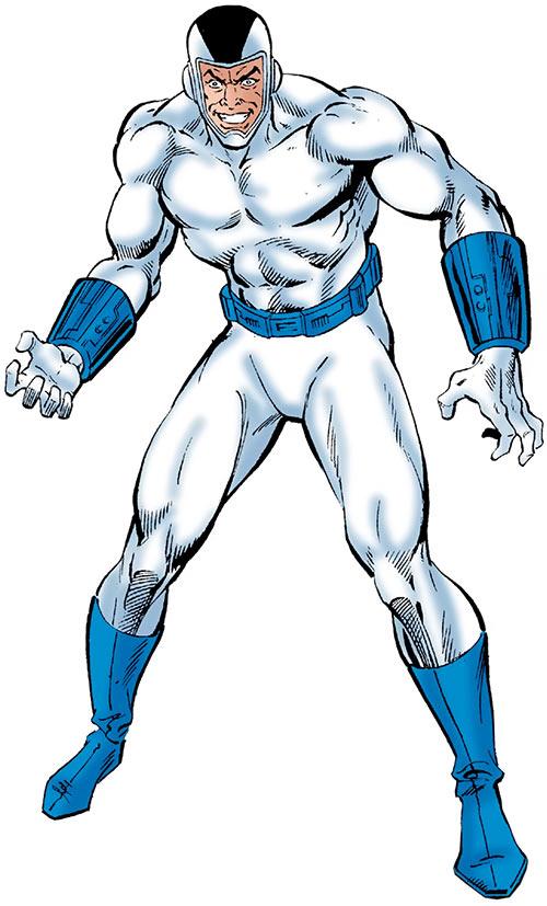 Blizzard (Shapanka) (Iron Man enemy) in the white suit