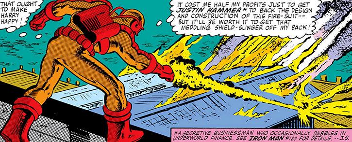 Blockbuster aka Heat-Ray (Fredric Woolrich) torching a warehouse
