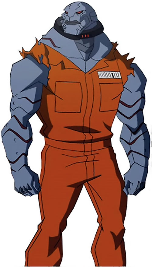 Blockbuster (Young Justice animated series) in prison orange