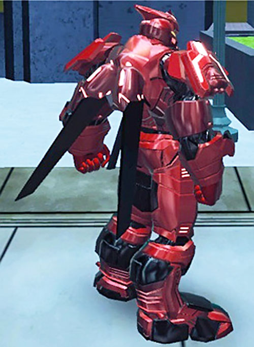 Bloodforce power armor (DC Heroes RPG) (back view)