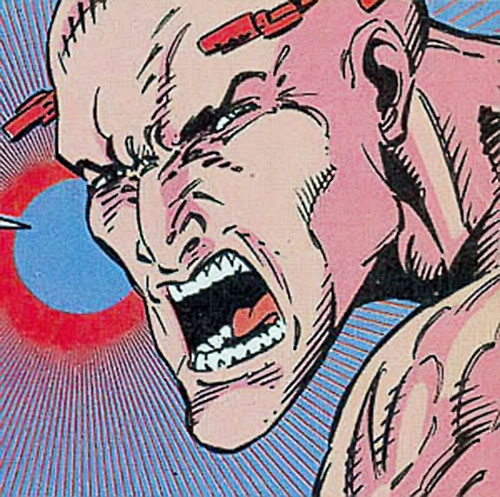 Bloodhawk of the X-Men 2099 (Marvel Comics) human face