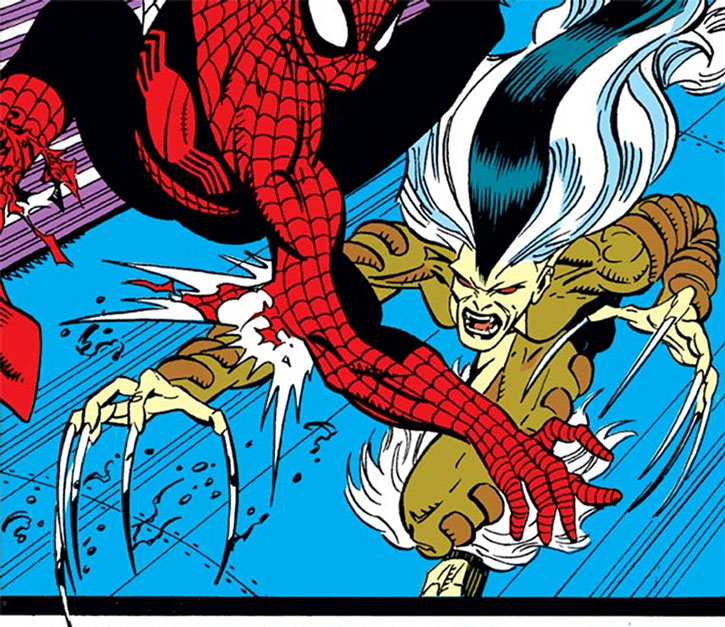 Bloodlust claws at Spider-Man