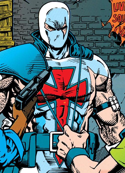 Bloodsport II (Trent) (Superman enemy) (DC Comics) facing gangbangers