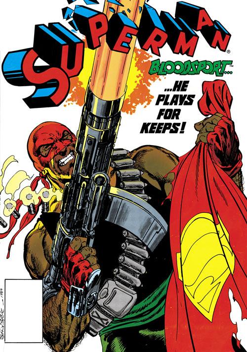 Bloodsport (Dubois) (Superman enemy) (DC Comics) shooting cover art