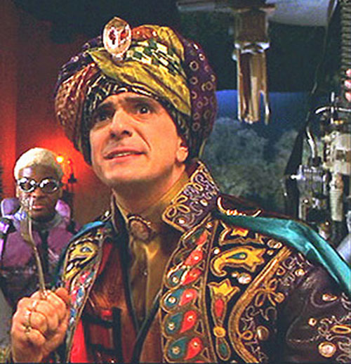 Blue Raja (Hank Azaria in Mystery Men) with a fork at the ready