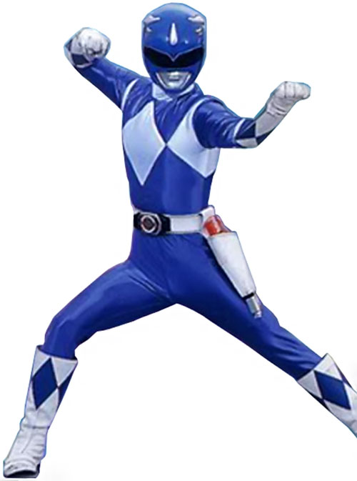 Blue Ranger (Billy) of the Mighty Morphin' Power Rangers (Early) martial arts pose