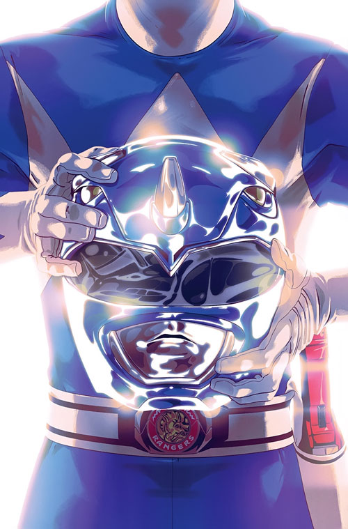 Blue Ranger (Billy) of the Mighty Morphin' Power Rangers (Early) helm and belt buckle