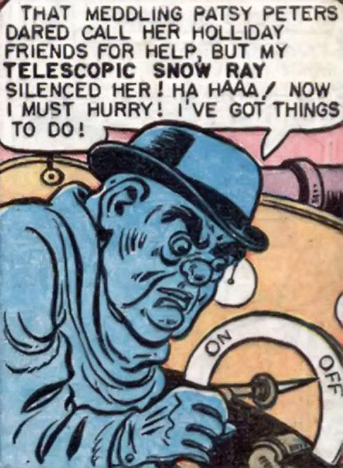 Blue Snowman (Wonder Woman enemy) (DC Comics) using her special ray