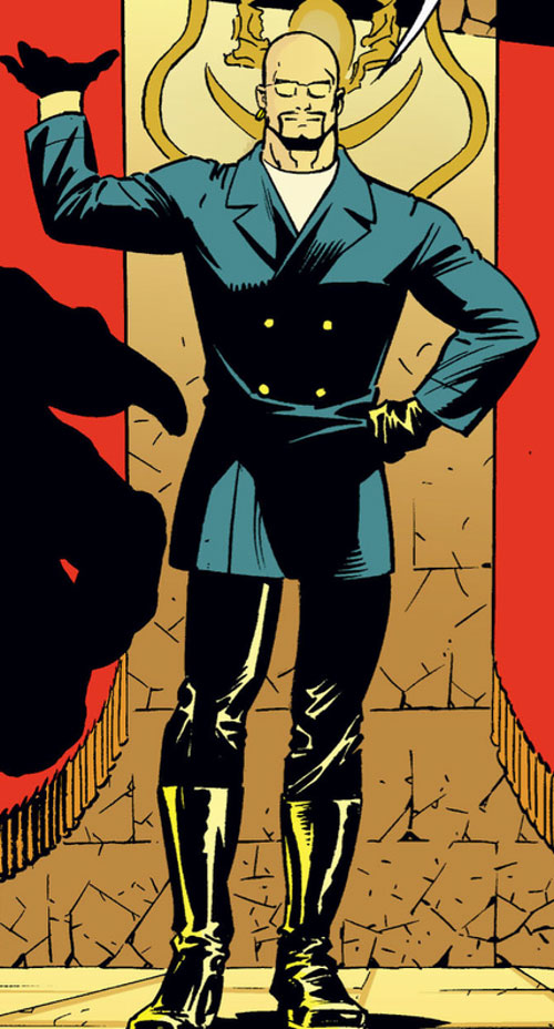 Bluebeard of the Fables (DC Comics) in horse riding clothes