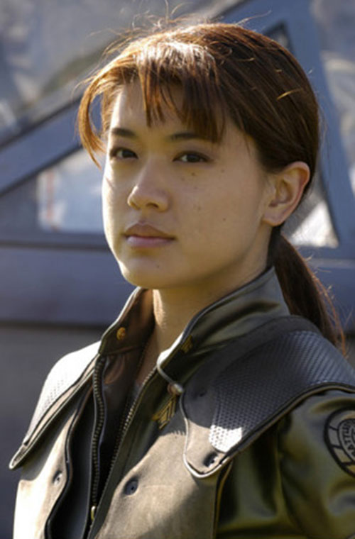 "Sharon ""Boomer"" Valerii (Grace Park in Battlestar Galactica) closeup"