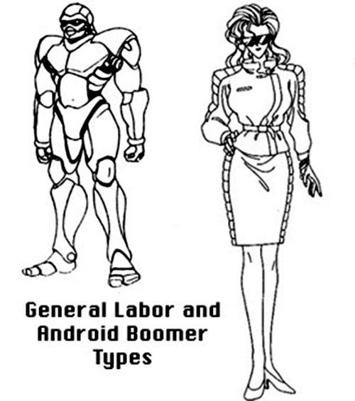 General labor Boomer robot (Bubblegum Crisis)