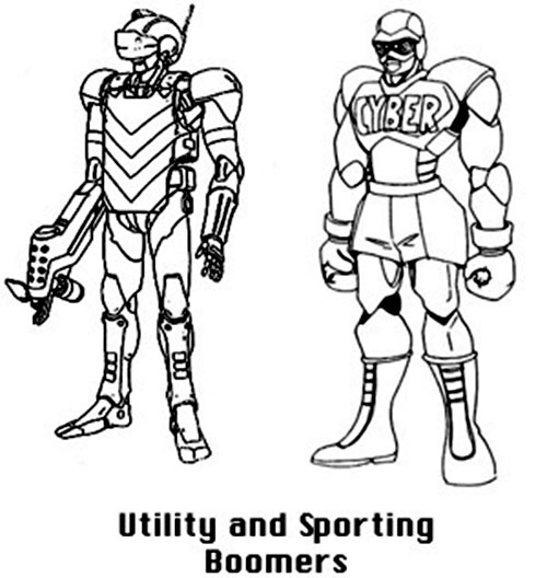 Utility and sporting Boomer robot (Bubblegum Crisis)