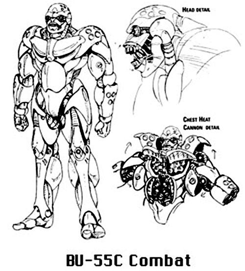 BU-55c combat Boomer robot (Bubblegum Crisis)