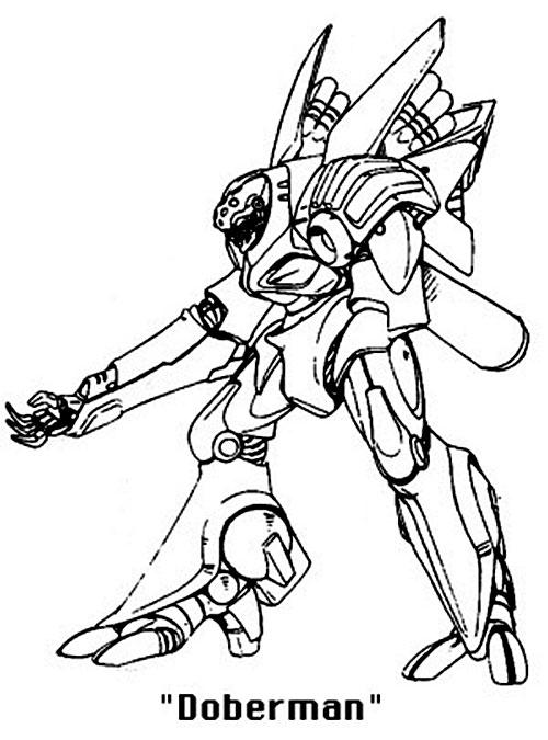 Doberman Boomer robot (Bubblegum Crisis)
